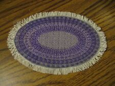 Purple  Large Oval Mini Rag Rug one Inch Scale for Doll House