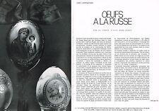 COUPURE DE PRESSE CLIPPING 073 1967 OEUFS A LA RUSSE ALEXIS BOBR NSKOY (6 pages)