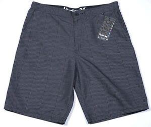 Men's HURLEY Gray Grey Black Board Shorts Swimsuit Swim Trunks 31 NWT NEW