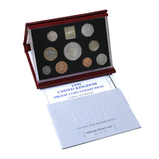 1999 Royal Mint UK Coinage Deluxe 9 Proof Coin Collection