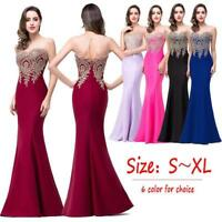 Elegant Women Summer Cocktail Evening Party Prom Ball Gown Solid Maxi Long Dress
