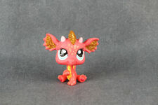 LPS Littlest Pet Shop Red Glitter Dragon Chinese New Year #2484 HTF Rare