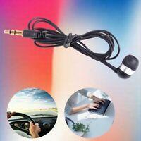 Universal 3.5mm Single Side Headset In Ear Mono Wire Earbud Earphone Headphone