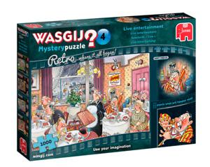 Jumbo Wasgij Retro Mystery 4 - Live Entertainment 1000 piece Jigsaw Puzzle