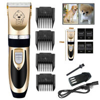 USB Electric Animal Pet Dog Cat Hair Trimmer Shaver Razor Grooming Quiet Clipper