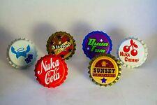 Set of Various Nuka Cola Caps-Cola, Sunset, Quantum, Cherry, Victory, Extra Life