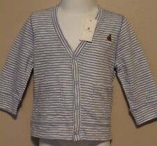 BOYS 0-3 months Baby GAP snap front striped cardigan jacket NWT (blue & white)