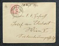 1890 Salzburg Austria Cover to Vienna