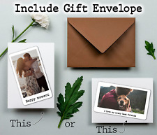 Personalised Text Photo Metal Wallet Card Purse Keepsake Gift Free Envelope