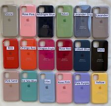 FUNDA DE SILICONA PARA APPLE iPhone 11 / 11 Pro / 11 PRO MAX 17 COLORES