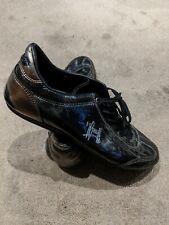Men's Cruyff Recopa Classic Trainers In Black & Bronze Leather Size 9 UK 43 EUR