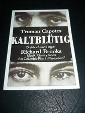 IN COLD BLOOD, film card [Robert Blake, Scott Wilson] - Truman Capote novel