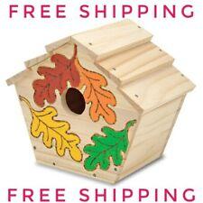 NEW Melissa & Doug Build-Your-Own Wooden Birdhouse Craft Kit Child Development