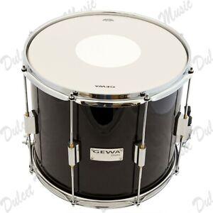 "Gewa 14"" x 12"" Marching Tenor Snare Drum Birch Shell Black Laminate *FAST POST*"