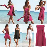 Women Colors Summer Beach Skirt Ribbon Push-up Wrapped Swimming Dress Swimwear
