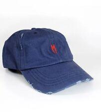Marbek ROJO M Logo Envejecido Gorra Ajustable Gorra Béisbol Azul Marino