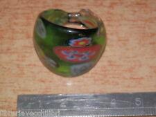 Vecchio anello in VETRO DI MURANO colorato fantasia di colori vintage anni 60 da