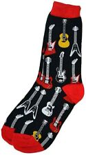 Aim Gifts Women's Guitar Novelty Sock, Size 9-11,Color Black,Style#16310