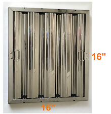 "Box of 6 Stainless Steel Commercial Range Hood Baffle Grease Filter 16"" x 16"""