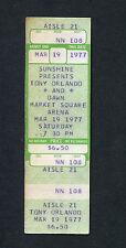 1977 Tony Orlando Dawn unused full concert ticket Indianapolis Knock Three Times