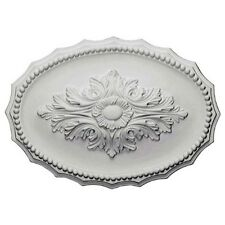 Oxford Ceiling Medallion Oval 17 x12 Inch White & for wall, door, cabinet  B1012