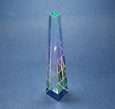 Obelisco Cristallo Peacock CASTLE GLAS CRYSTAL COLOUR PYRAMID ORNAMENT 150x26 mm
