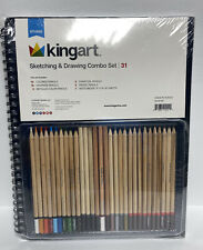 "Kingartâ""¢ Sketch Combo Pack with 11x14"" Sketchbook & 30 Piece Pencil Set"