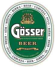 "Gosser Beer Car Bumper Window Locker Sticker Decal 4""X5"""