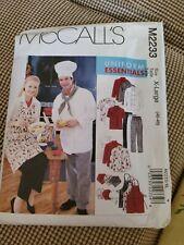 Sewing Pattern McCalls 2233 Chef Cook Uniforms Jacket Hat Apron Pant Sz Xl 46-48