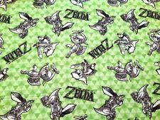 NEW!!  Legend of Zelda ~ Zelda Sketched FLANNEL Fabric by the YARD