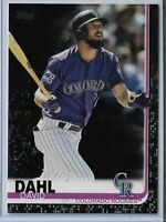 2019 Topps Series 2 Black Parallel David Dahl 42/67 Colorado Rockies #601