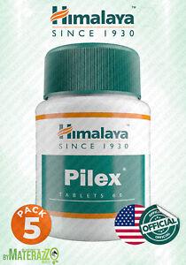 OFFICIAL USA 5 box 180 tablets HIMALAYA PILEX Anti Hemorrhoids Fissures Rectal