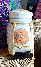 Home Decor - Rice Basket - Hand Painted Container
