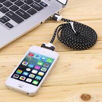 CÂBLE CHARGEUR USB POUR IPHONE 4 4S 3G 3GS iPAD iPOD COULEUR TRESSÉ RENFORCÉ