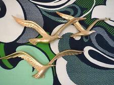 VTG 1970s MID Century Modern HOMCO Seagulls Birds Plastic Gold Wall Art Retro