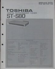 Toshiba ST-S80 radio tuner service repair workshop manual (original copy)