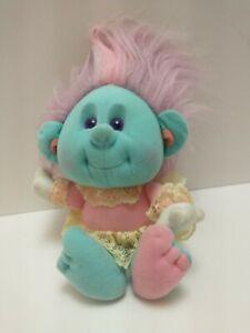 "Playskool Hobnobbins Cousin Manners Plush Soft Doll 10"" Toy 1989 Troll Hasbro"