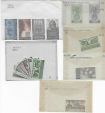 Egypt 1940's Commemorative Sets all MNH in Glassines