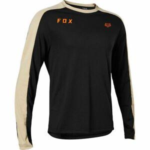 New Fox Racing Men's MTB Long Sleeve Ranger DriRelease Slide Mid Jersey Black