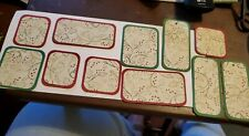 Pre made scrapbook paper piecing Christmas Gift Tags. Set Of 11 DCWV Holly Berry