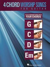 4-Chord Worship Songs For Guitar (g-C-D-Em): By Hal Leonard Corp.
