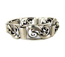 Art Deco Armband 830 S Silber Antique Floral Silver Bracelet Denmark ca 1930