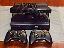 Microsoft Xbox 360 S Launch Edition 250 GB w/ 2 Wireless Controllers and Kinect
