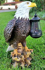 SOLAR AMERICAN BALD EAGLE STATUE WITH SOLAR LIGHT