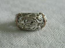 Clogau Silver & 9ct Welsh Gold Diamond Am Byth Ring size M RRP £300.00
