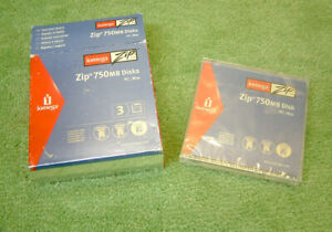 IOMEGA Zip 750Mb Disk PC / MAC Compatible - Jewel Case - NEW & SEALED Pack of 3