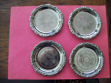 SET OF 4 SILVER PLATED EP ON STEEL -ITALY