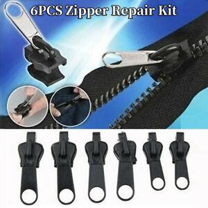 6 PCS Set Zipper Repair Kit Zip Sliders Spirals Instant Fix Your Own DIY Sewing
