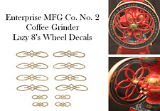 Enterprise MFG. Co.  No. 2  Coffee Grinder Mill  Wheel Restoration Decal Set