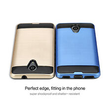 For BLU Life Cell Phones Slim Shock Tough Hybrid Case Cover + Screen Protector